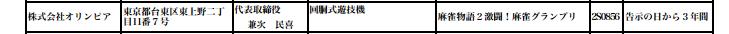 オリンピア 麻雀物語2激闘!麻雀グランプリが検定通過