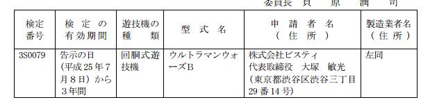 【速報】ウルトラマンウォーズB(ビスティ)が検定通過