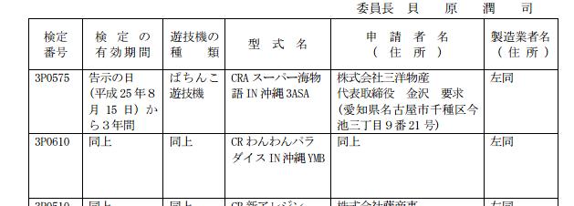 沖縄3甘デジの検定通過で考える今秋以降のパチンコ戦略
