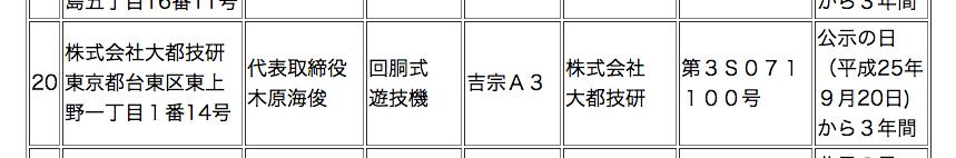 【速報】大都から「吉宗A3」が正式に検定通過確認