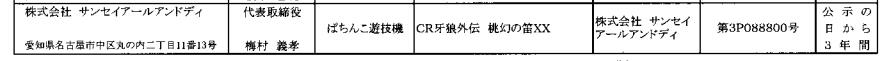【速報】CR牙狼外伝 桃源の笛が検定通過 マックスで登場か?
