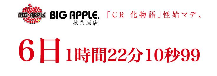 ビッグアップル秋葉原がCR化物語特設サイトをオープン/日本最大86台導入を告知