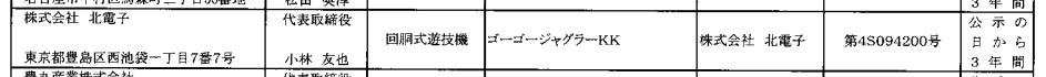 ジャグラーシリーズ最新作が検定通過/ゴーゴージャグラーKK(北電子)確認