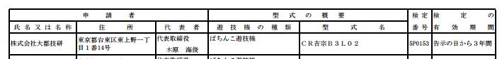 【新スペック通過確認】大都さんから新機種パチンコ2機種検定通過/吉宗&楓魂が確認/プロモ動画ほか