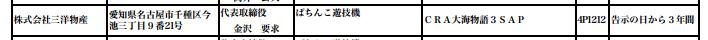 大海物語3の甘デジバージョンが検定通過/今回は「まわるん」ではないスペックか