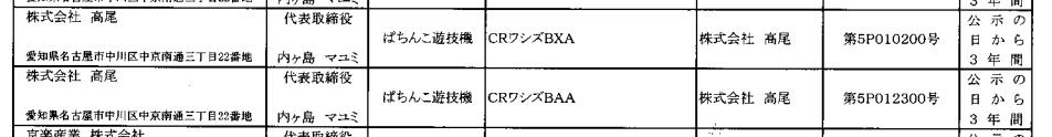 CRワシズ(高尾)が2スペック一気に検定通過/福本伸行氏作品のスピンオフか