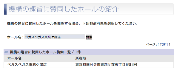 ベガスベガス東恋ケ窪店の登録を確認/北海道でのグランドオープンが続くベガスベガスグループ