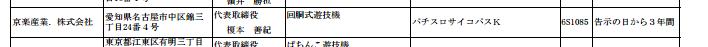 【別スペック検定通過】人気アニメ パチスロサイコパス(京楽)が検定通過