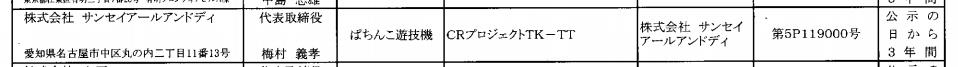 サンセイから新機種パチンコ「プロジェクトTK」検定通過/小室哲哉氏パチンコか?
