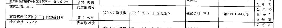【グリーンも通過】初代から約10年 パトラッシュ最新作「CRパトラッシュJ RED3」検定通過
