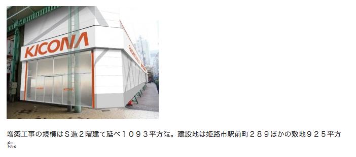 KICONA姫路駅前店(仮称)を増築/兵庫県が景観影響評価準備書を受理