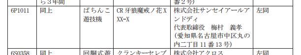 サンセイから牙狼魔戒最新作検定通過/CR牙狼魔界ノ花XXX-X