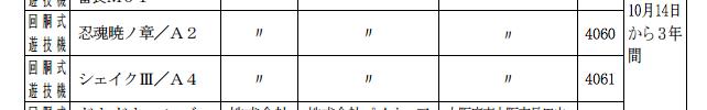 大都から新機種パチスロ一気に2機種「忍魂暁ノ章」「シェイクⅢ」検定通過