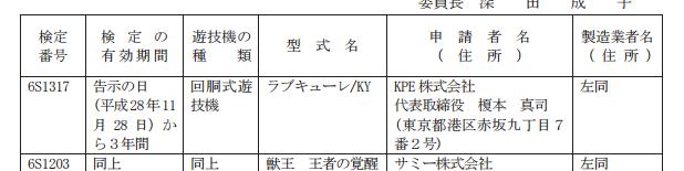 KPE新機種パチスロ「ラブキューレ」検定通過/防空少女ラブキューレの商標出願も