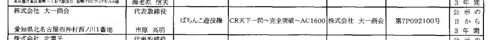 またまた天下一閃別スペックが検定通過/一発台の評価如何に「CR天下一閃AC1200」確認