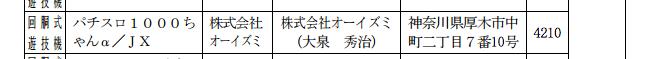 オーイズミ社のキャラクター「1000ちゃん」がパチスロ化/通常の順番とは逆