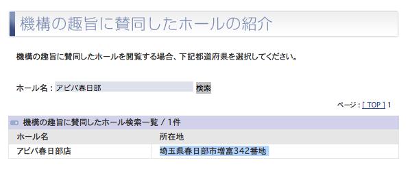 「アビバ春日部店」の機構登録確認/アビバグループ、初の埼玉進出に かつてのOnly-One春日部店