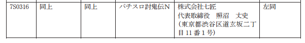 和風ゲーム版権がパチスロ化/七匠さんから「パチスロ討鬼伝」検定通過