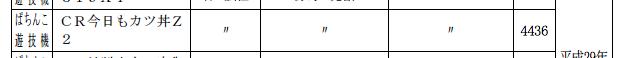 ある意味豊丸さんらしい機種名?「CR今日もカツ丼」検定通過を確認